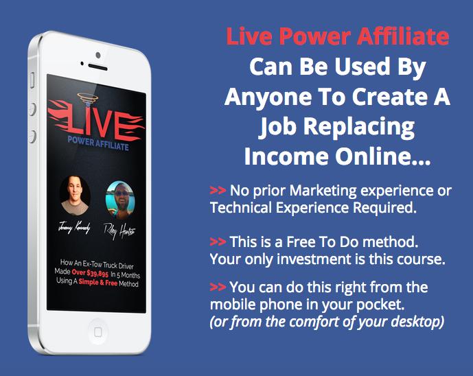 我是如何使用简单而自由的方法赚了超过$39,895美元的(Live Power Affiliate)