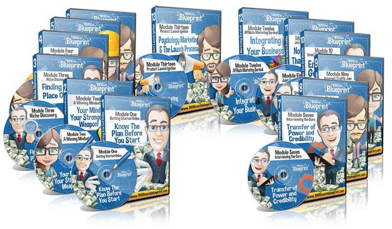线上业务月入千刀强化训练教程($1000/Month Blueprint)