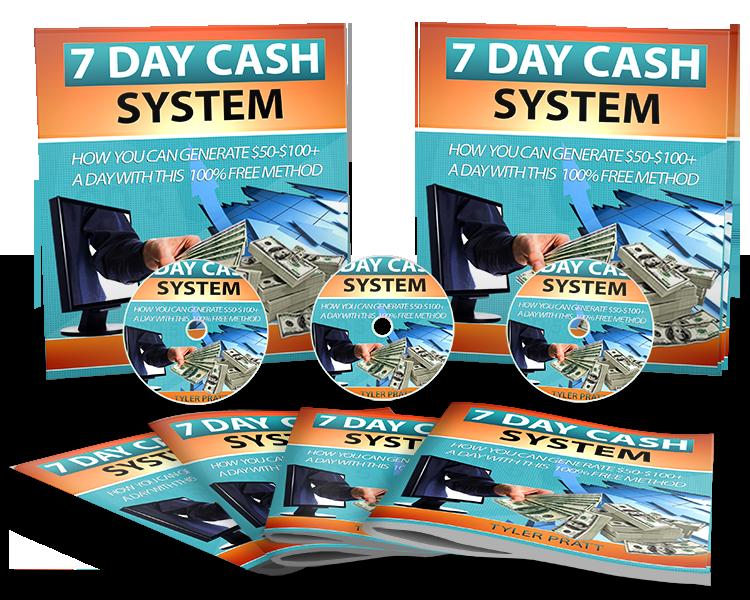 如何使用100%的免费在线方式开始赚取$100+美元(7 Day Cash System)