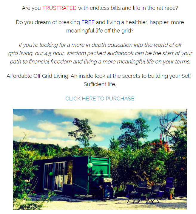 An Inside Look at the Secrets to Building your Self-Sufficient Life.(Affordable Off Grid Living)