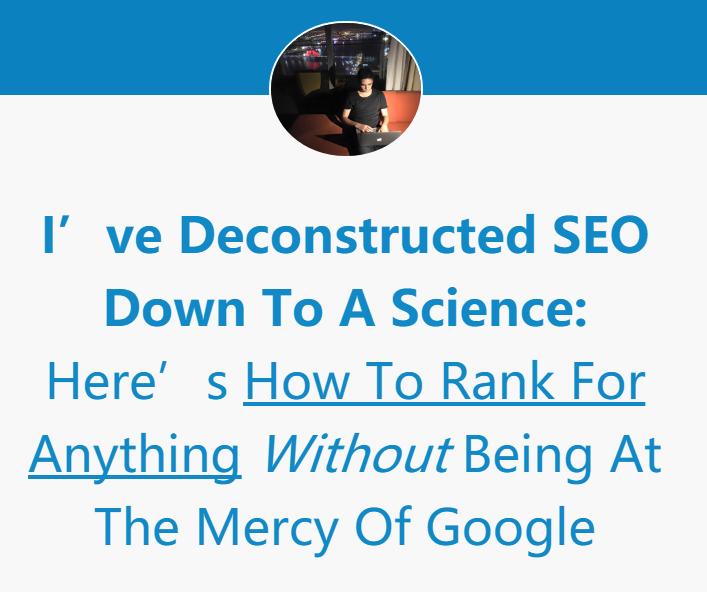 Google搜索引擎优化排名 TOP #1 比您想象的要轻松(Scientific Rankings)