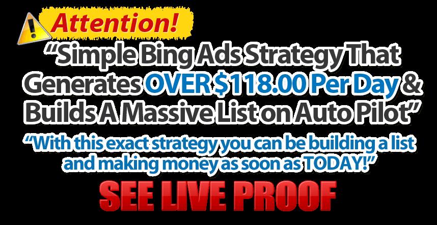 简单的 Bing Ads 必应广告策略构建庞大的用户列表(Cash In With Bing)