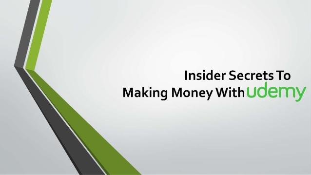 Udemy赚钱的内幕秘密(Insider Secrets To Making Money With Udemy)