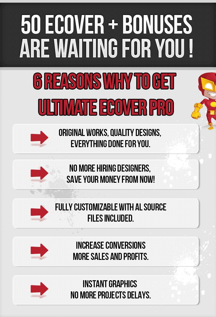 大量高质量的封面设计主图资源包(Ultimate Ecover Pro)
