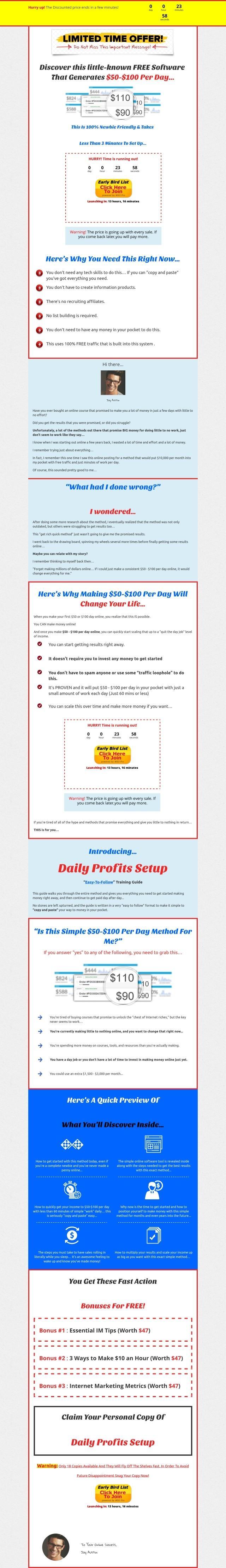 每天产生$50- $100的利润 - 本教程将引导您完成整个过程!(Daily Profits Setup)
