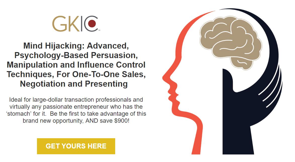 思想劫持基于心理学的先进的说服力和影响控制操纵技术 - 用于商务一对一销售谈判等..(Mind-HiJacking)