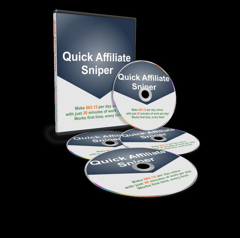 一步一步教您如何创建一个每天30分钟的简单策略系统,每一天产生$63.12美元的利润,你也可以很容易做到!(Quick Affiliate Sniper)