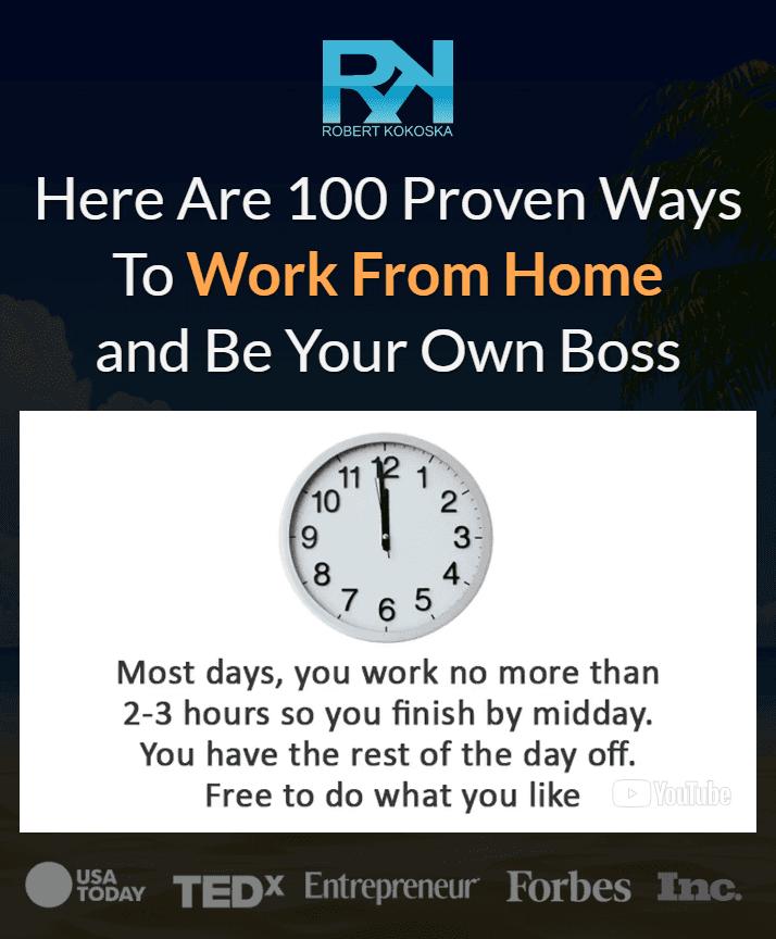 00个证明如何在家工作做你自己的老板的经过验证的经验之谈(100