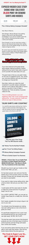 教您我是如何销售26,020件按客户需求印刷的衬衫和卫衣帽衫的(26,000 Shirts and Counting 0K Case Study)
