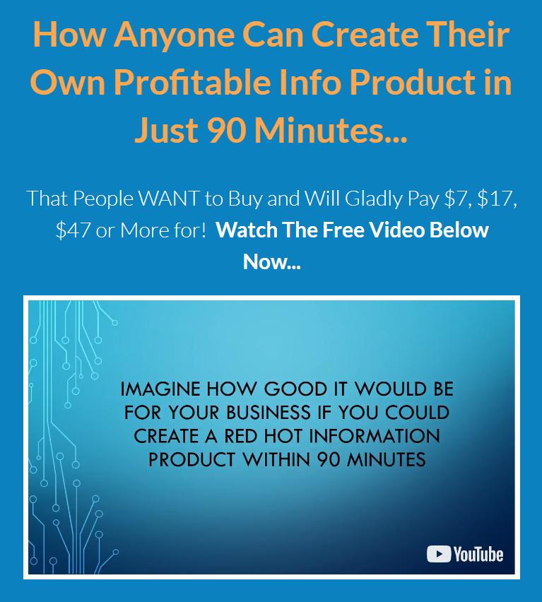 在90分钟内创建火爆的信息产品(90 Minute Product Creation)