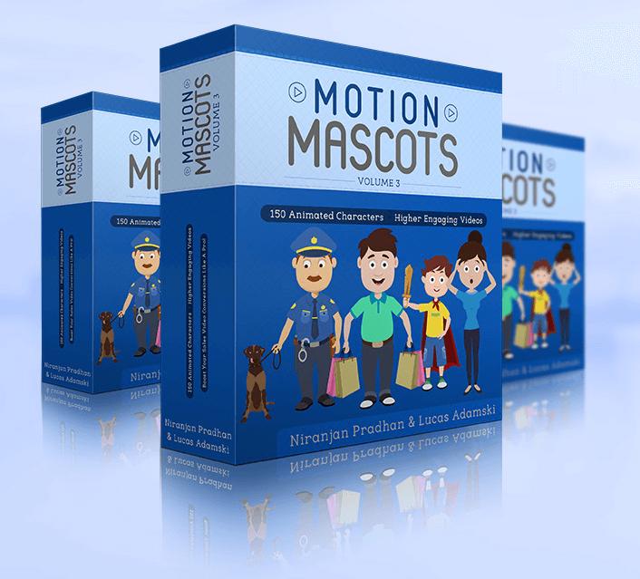 视频营销必备 - 可复制及粘贴的动画人物素材150+(Motion Mascots V3)