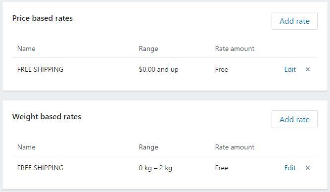 shopify平台注册开店零基础入门教程 – 店铺基本设置 – 6 - Shopify平台注册开店零基础入门教程 – 店铺基本设置 – Shopify运费设置