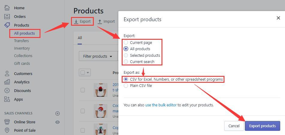 Shopify平台注册开店零基础入门教程 – Shopify产品批量上传与下载