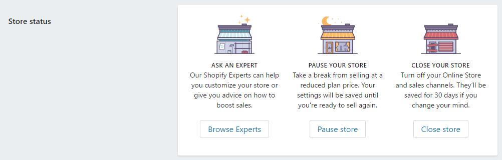 Shopify平台注册开店零基础入门教程 –  Shopify店铺基本设置 Account设置