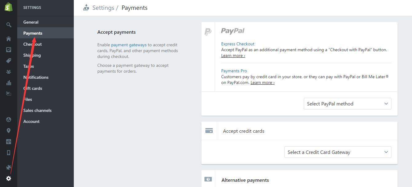 shopify平台注册开店零基础入门教程 shopify店铺基本设置 paypal - Shopify平台注册开店零基础入门教程 - Shopify店铺基本设置 Paypal收款设置