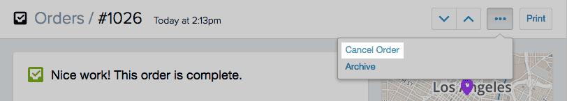 Shopify开店建站营销推广卖家平台后台中文指南 – Cancel or Delete order/取消或删除订单