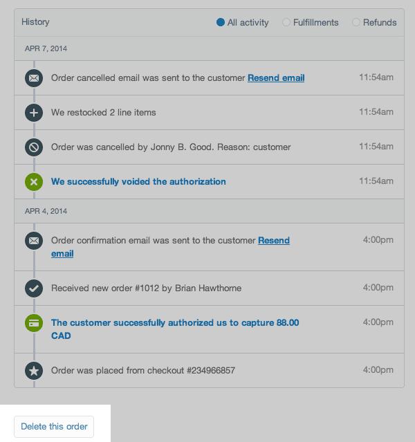 shopify开店建站营销推广卖家平台后台中文指南 – cancel or delete ord 3 - Shopify开店建站营销推广卖家平台后台中文指南 – Cancel or Delete order/取消或删除订单