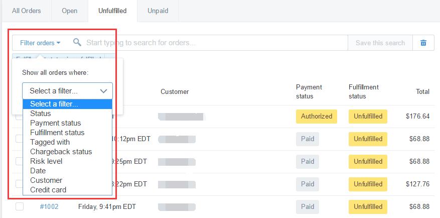 shopify开店建站营销推广卖家平台后台中文指南 – exportprintnotest 9 - Shopify开店建站营销推广卖家平台后台中文指南 – Export/Print/Notes/Tags/Sort/Filter/Contact Customer  订单的导出/打印/备注/标签/排序和过虑/联系顾客