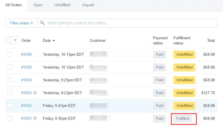 Shopify开店建站营销推广卖家平台后台中文指南 – Fulfill order/履行订单