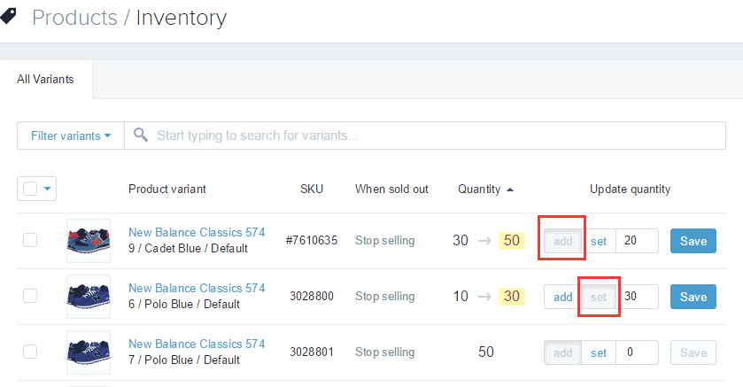 Shopify开店建站营销推广卖家平台后台中文指南 – Inventory/库存管理
