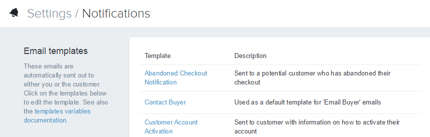 Shopify开店建站营销推广卖家平台后台中文指南 – Notifications/Shopify中的通知和邮件模板设置