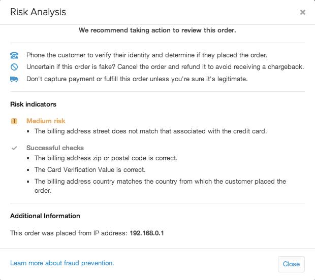 shopify开店建站营销推广卖家平台后台中文指南 – risk analysis 3 - Shopify开店建站营销推广卖家平台后台中文指南 – Risk Analysis/风险分析