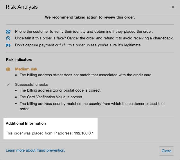 shopify开店建站营销推广卖家平台后台中文指南 – risk analysis 8 - Shopify开店建站营销推广卖家平台后台中文指南 – Risk Analysis/风险分析