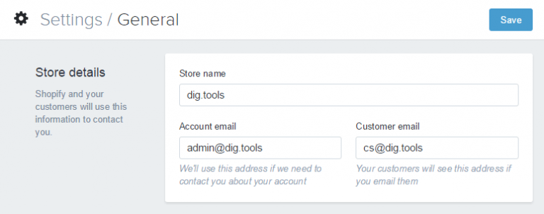 Shopify开店建站营销推广卖家平台后台中文指南 – Shopify的General/通用设置