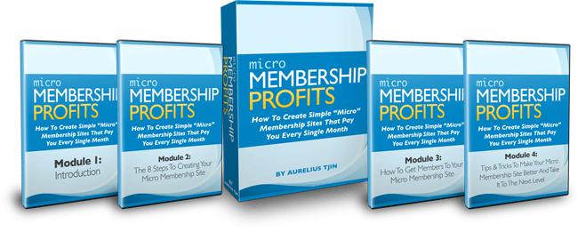 一步一步的视频培训系列教你如何创建您自己的微型付费会员网站(Micro Membership Profits)