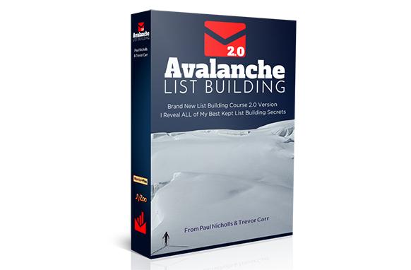 买家邮件营销列表的建立让我每月收入 0000 U S.DOLLAR(Avalanche List Building)