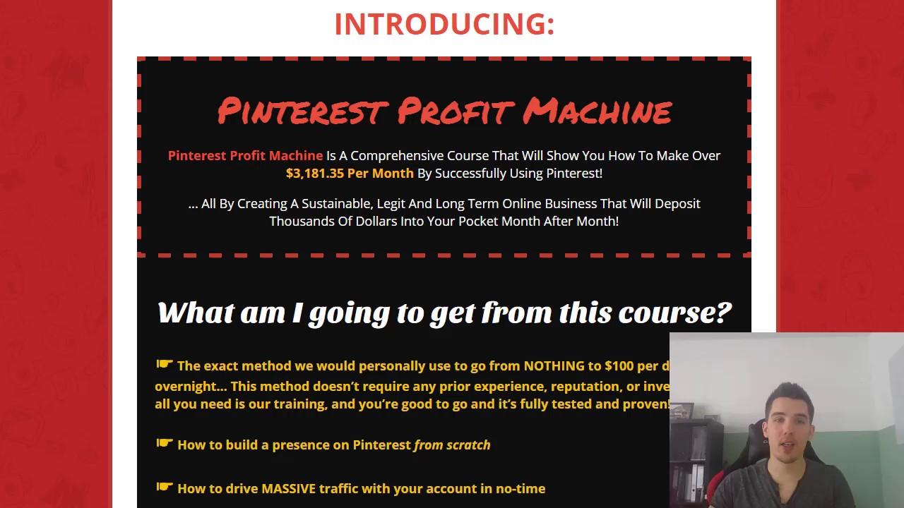 如何打造Pinterest自动赚钱机器 - 教你如何利用Pinterest获取大量的流量(Pinterest Profit Machine)