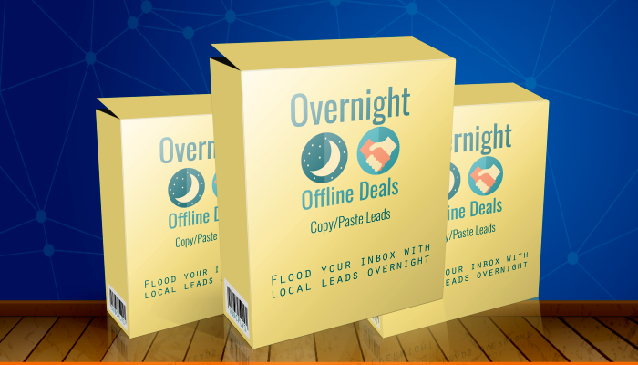 Get your hands on the exact offline lead generation system I used that helped me close the deals above. It takes 15 minutes of setup time and costs nothing.(Overnight Offline Deals)