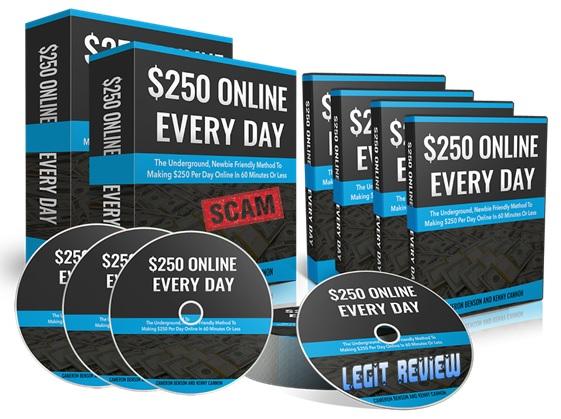 不需要产品的创建、不需要付费的流量、不需要销售任何东西或者拥有一个现有的列表而每天可以赚到$250美元!($250 Online Every Day)