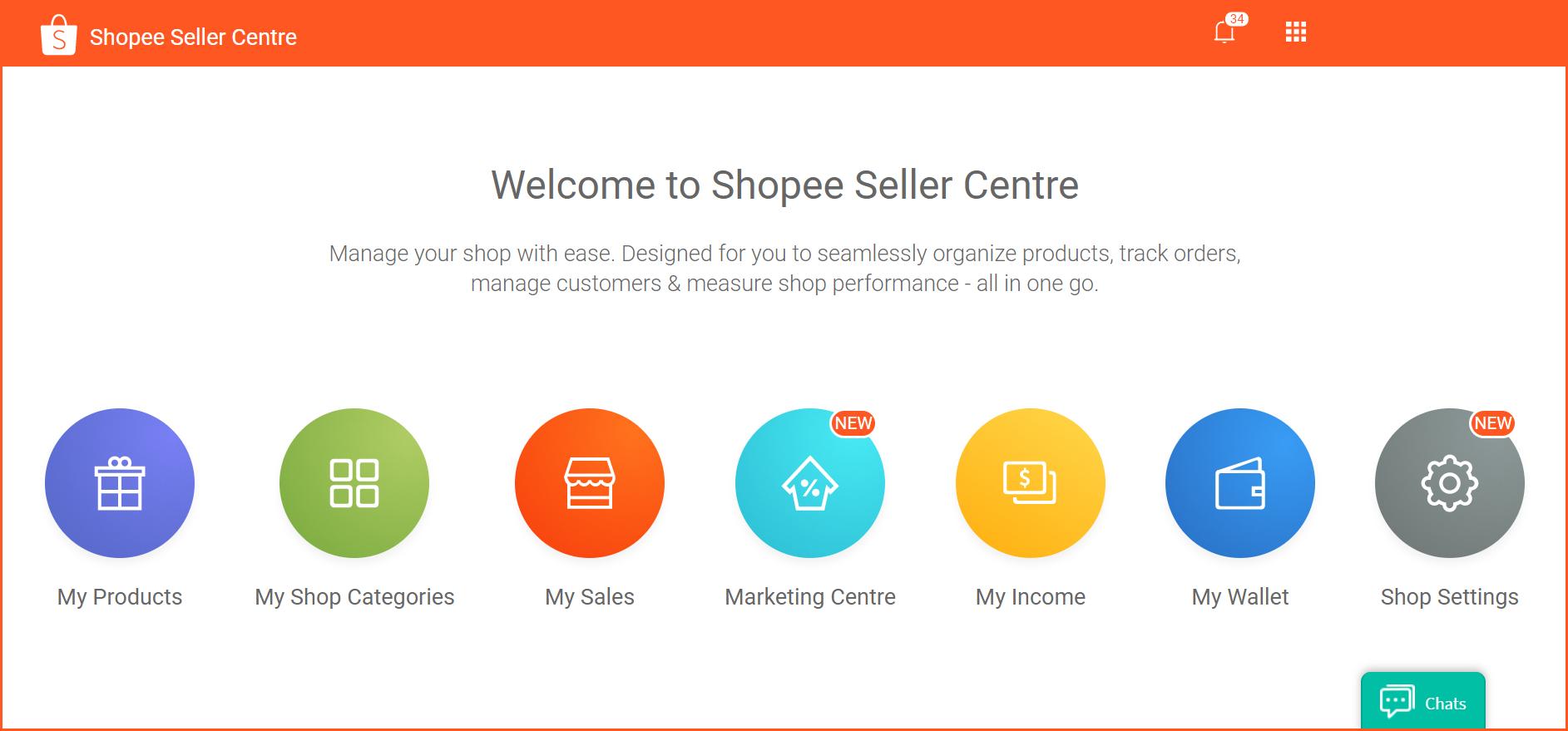 虾皮购物(Shopee电商平台)从商家帐号注册入驻卖家平台到运营教程 - 卖家中心页面概览(Seller Center)