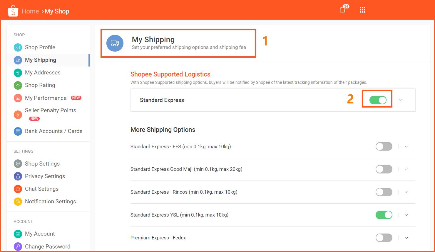虾皮购物(Shopee电商平台)从商家帐号注册入驻卖家平台到运营教程 – 店铺管理与设置 开通物流-SLS