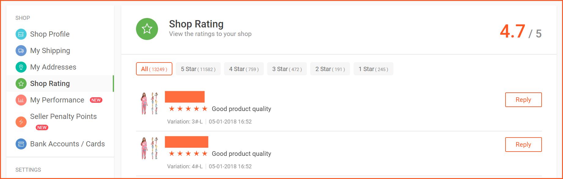 虾皮购物(Shopee电商平台)从商家帐号注册入驻卖家平台到运营教程 – 订单管理与售后 评价管理