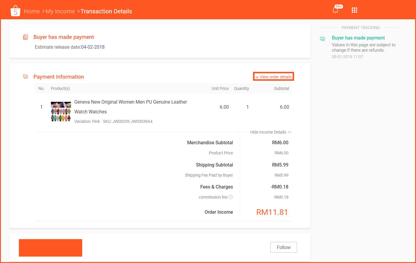 虾皮购物(Shopee电商平台)从商家帐号注册入驻卖家平台到运营教程 – 打款与查账 查看收入/对账查询