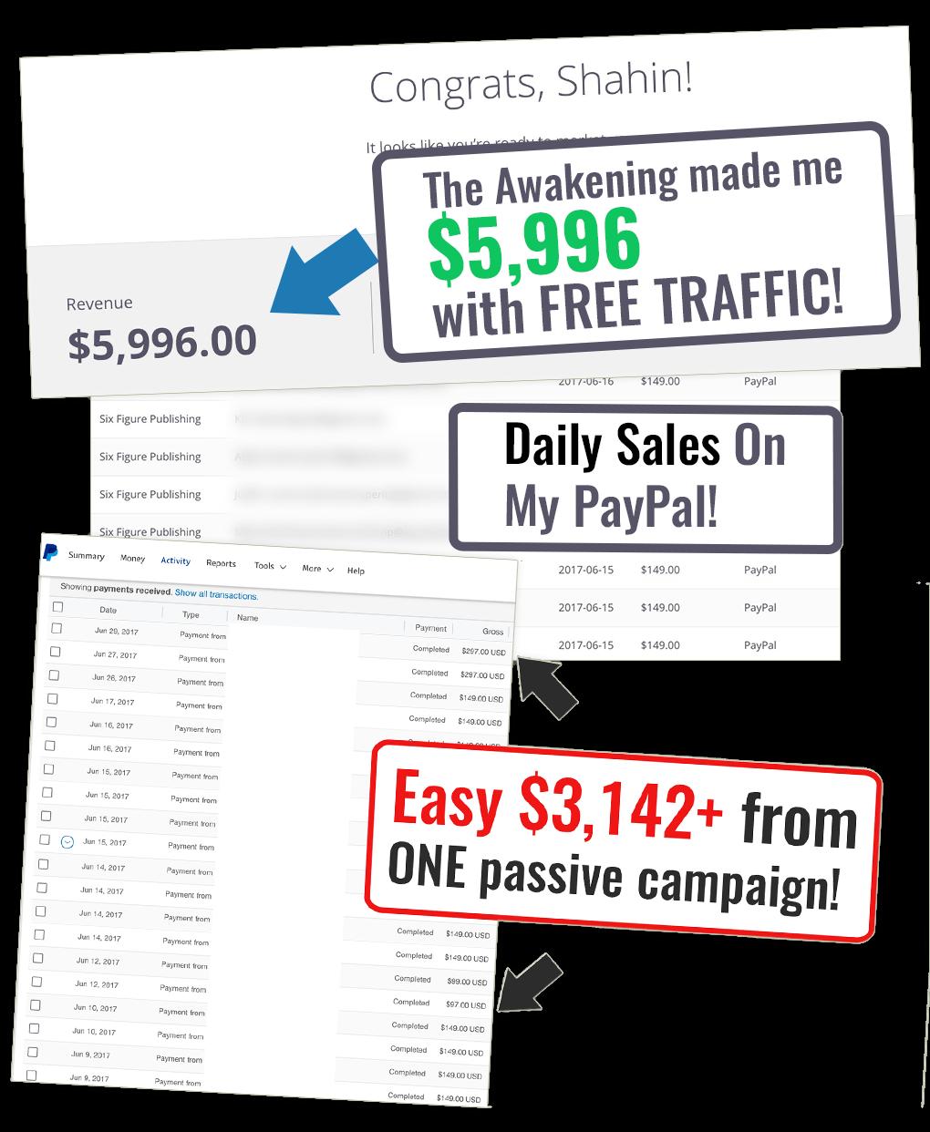 使用100%的免费流量如何开始用一个小小的电子邮件列表来赚钱(The Awakening )