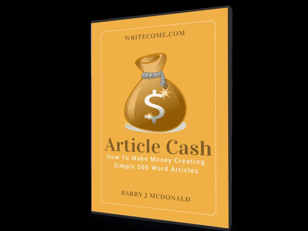 如果你能写一篇500字的英文文章,那么我可以教你如何从中赚钱。(Article Cash)