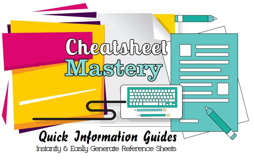 学习如何使用简单的基本的备忘单(Cheat Sheet Mastery)
