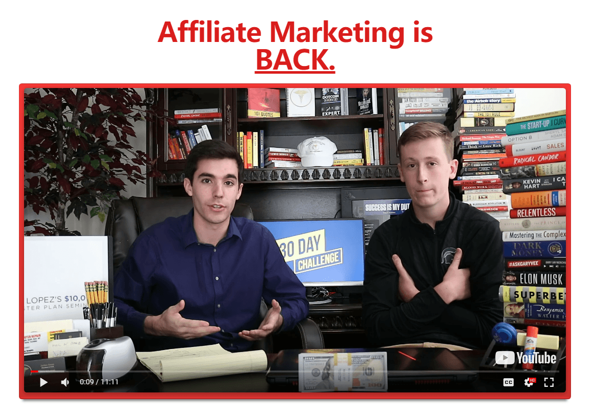 Affiliate Marketing Mastery Class 30-Day Challenge Training to $10,000 / Month!(30-Day Affiliate Marketing Challenge Training)