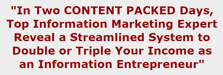 从领域的顶级专家那里获得如何创建和销售你自己的信息产品的详细指南(Info Products Seminar)