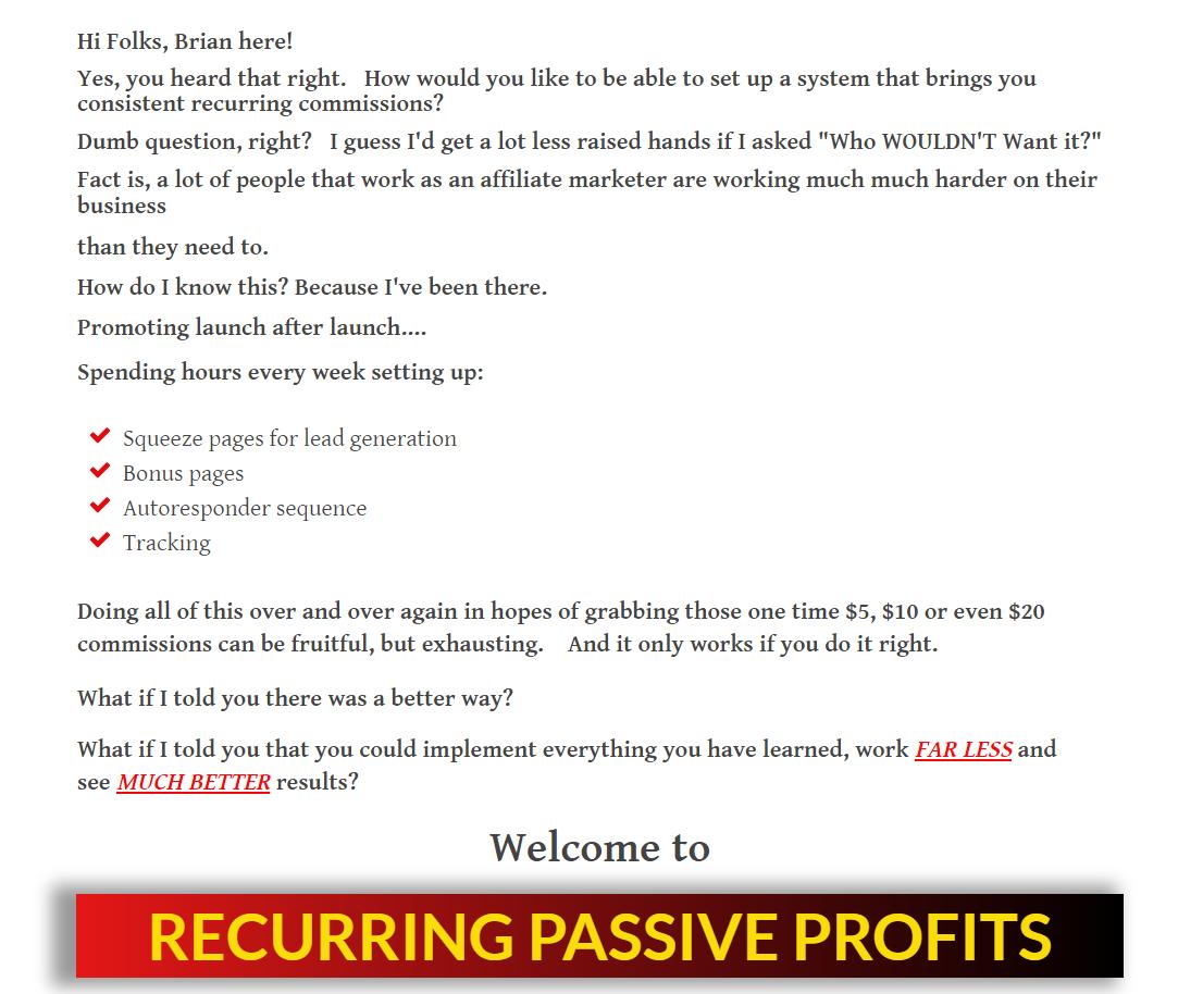 创建一个24小时自动运行的被动收入自动赚钱机器(Recurring Passive Profits)