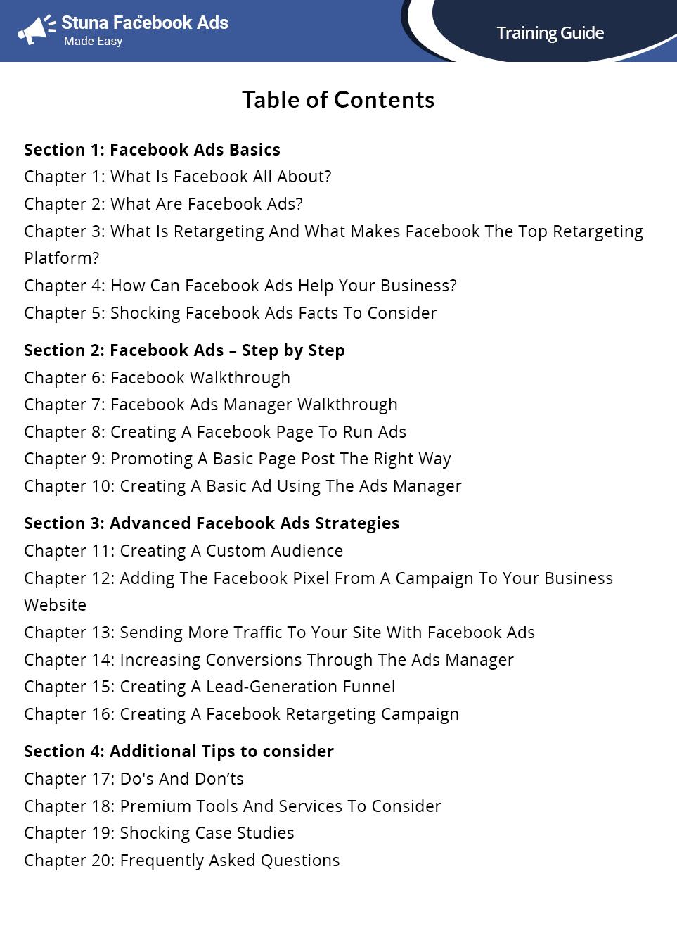 一步一步的Facebook Ads培训指南将带着教你如何容易地锁定指定类型的你正在寻找的人,并针对他们的位置,人口统计,和兴趣分析。(Stuna Facebook Ads Training Guide)