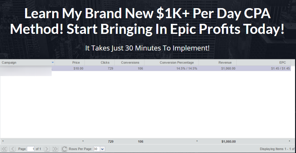 Learn My Brand New K+ Per Day CPA Method! Start Bringing In Epic Profits Today!(Cpa Shockwave)