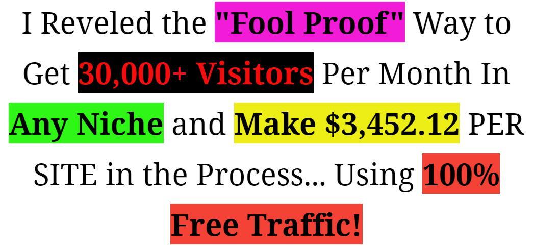 任何一个细分市场,每个月都能吸引3万多名访客!!(Traffic Mania)