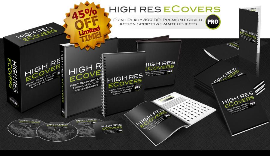 在几分钟内为你所有的产品创建逼真的高分辨率的3D封面(High Res eCovers Pro)