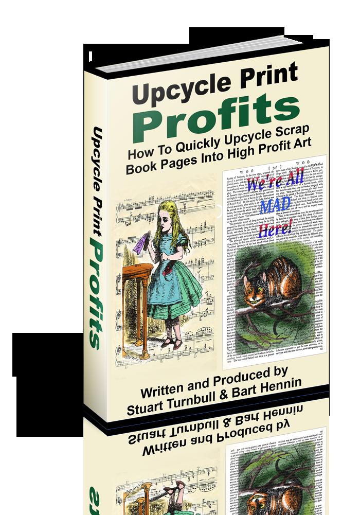 如何快速、轻松地将废弃的古书老书升级为eBay、Easy和亚马逊(Amazon)上的买家渴望的高利润艺术品。(Upcycle Print Profits)