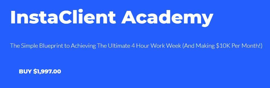 每月赚1万美元,而且每周只需要工作4个小时,原来是学的这个!(Instaclient Academy)