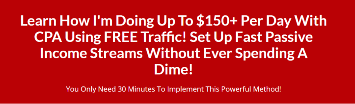 0 Per Day With CPA Using Free Traffic(Lightning Cpa)